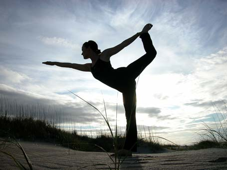 yoga dancer pose