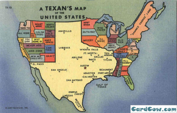 Maps DIYdilettante - Weird maps of the us